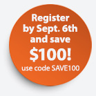 Register by Sept 6th and SAVE!